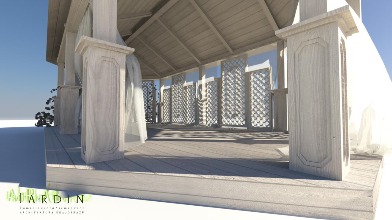 stylowa drewniana altana