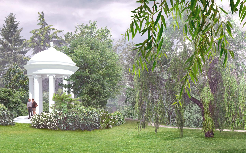wizualizacja altany w parku