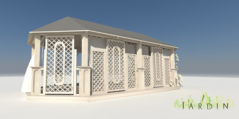drewniany pawilon-altana
