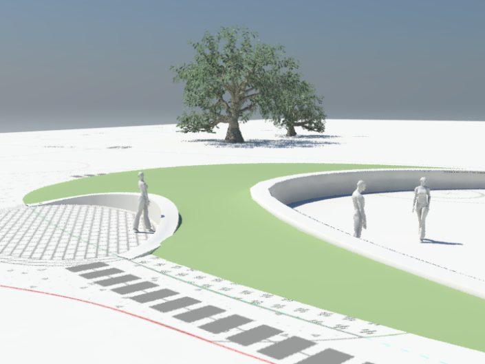 projekt ogrodu z wykorzystaniem modeli 3d terenu