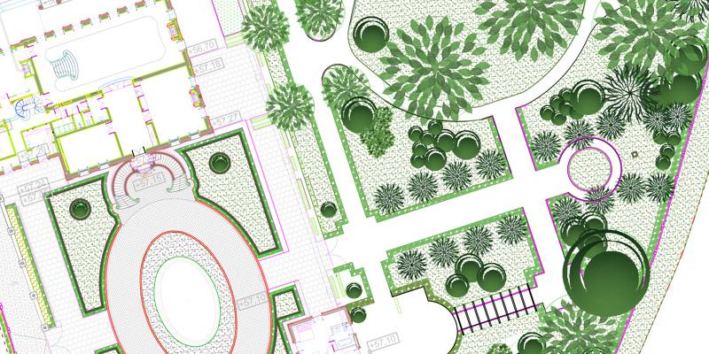 fragment projektu zagospodarowania parku